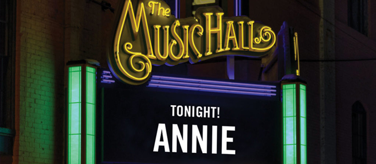 Annie is Coming to The Music Hall!